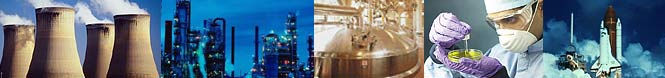 nuclear, industrial processing, food processing, pharmaceutical, aerospace applications